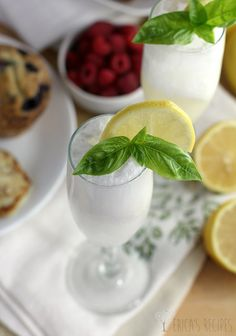 from erica s recipes lemon basil sherbet beverage this post is ...