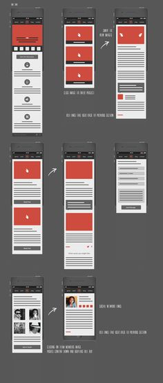 """Responsive Mobile Wireframes"" This is a very organized structured for mobile Wireframes , this is going to be useful for mobile design Wireframe Design, Design Ios, Mobile Wireframe, Mobile Ui, Design Thinking, Website Templates, Motion Design, Design Responsive, Information Architecture"
