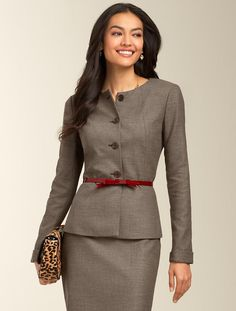 Talbots - Staggered Twill Peplum Jacket | Jackets | Misses