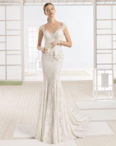 WAZIR vestido novia en color natural/nude