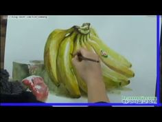 한국미술교육원 김정우 선생님 시범 동영상 - YouTube Pen And Wash, Still Life, Banana, Watercolor, Fruit, Charcoal, Vegetables, Videos, Art