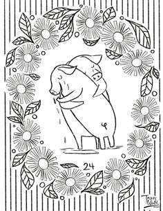Check out surface pattern designer and illustrator Tracey Wirth's free coloring pages. Free Coloring Pages, Surface Pattern Design, Elephant, Illustration, Inspiration, Art, Biblical Inspiration, Art Background, Illustrations