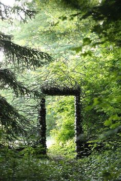 land art by Cornelia Konrads fairy portal nature land art for a magical world The Secret Garden, Secret Gardens, Land Art, Garden Gates, Garden Art, Forest Garden, Garden Entrance, Forest Path, Woodland Garden