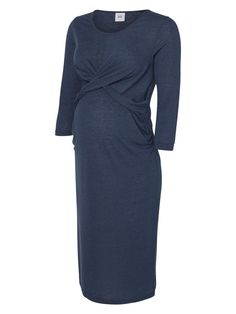 JERSEY MATERNITY DRESS, Black Iris, large