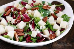 Autumn Salad with Pears and Gorgonzola | Skinnytaste  Yum.  I may have to run out for pears and gorgonzola now...