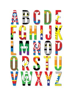 Superhero Nursery Print Alphabet Comic Book Poster by Sproutjam Superhero Alphabet, Baby Superhero, Superhero Poster, Boys Superhero Bedroom, Superhero Room Decor, Superhero Bathroom, Superhero Names, Alphabet Kindergarten, Marvel Nursery