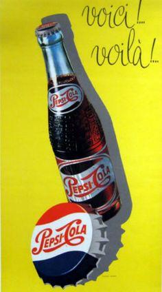 Vintage Cartoon, Vintage Ads, Vintage Posters, Pepsi Ad, Coke, Cola Wars, Peach Ice Tea, Pin Up Posters, Retro Pop