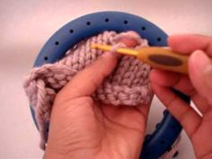 Loom knit - picking up a dropped stitch or how to fix a boo-boo.
