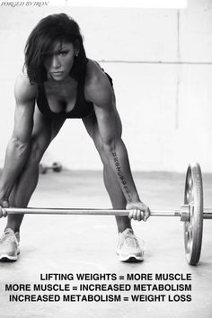 Lifting weights = weight loss. #workout #exercise #fitness #WeightLifting