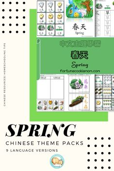 Need about Chinese teaching materials about SPRING? This Chinese Theme Pack contains 40+ pages of printable to teach literacy and Math, which includes tons of hands-on activities, flashcards, coloring pages about Spring, etc. There are a total of nine language versions for you to choose from. This Chinese Theme Packs will give you more resources to teach your kids Chinese at home. Click the image to learn more. #chineselesson #homeschoolcurriculum #digitalproduct #learnchinese… Chinese Theme, Chinese Book, Learn Chinese, Chinese Lessons, How To Start Homeschooling, Music And Movement, Spring Theme, Fortune Cookie, Teacher Blogs