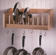 pot lid rack wall mount - Google Search