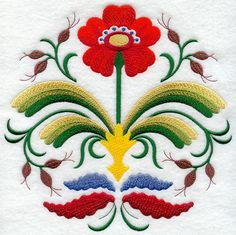 Folk Embroidery Ideas Machine Embroidery Designs at Embroidery Library! - New This Week Scandinavian Embroidery, Swedish Embroidery, Scandinavian Folk Art, Folk Embroidery, Learn Embroidery, Machine Embroidery Designs, Embroidery Patterns, Modern Embroidery, Scandinavian Pattern