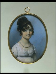 Portrait of an unknown woman    Object:  Miniature    Place of origin:  England, Great Britain (probably, painted)    Date:  1805 (painted)    Artist/Maker:  Engleheart, George copyright V