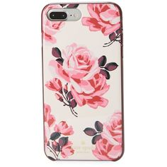 Kate Spade New York Floral iPhone 7 Plus Case (£35) ❤ liked on Polyvore featuring accessories, tech accessories, pink multicolor and kate spade