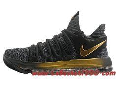 separation shoes fc36a 93a44 Nike Zoom KD 10 EP Chaussures de BasketBall Pas Cher Pour Homme Gris Noir Or