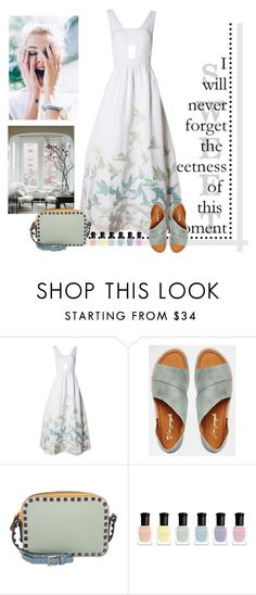 """surprise"" by bodangela ❤ liked on Polyvore featuring Mara Hoffman, Free People, Valentino and Deborah Lippmann"