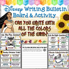 Disney Bulletin Boards, Writing Bulletin Boards, Classroom Bulletin Boards, Classroom Themes, Classroom Activities, First Day Of School Activities, Writing Activities, Teaching Resources, Teaching Ideas