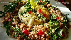 Bulgur s rukolou a granátovým jablkom (fotorecept) - recept Grains, Rice, Vegetables, Anna, Food, Bulgur, Vegetable Recipes, Eten, Veggie Food