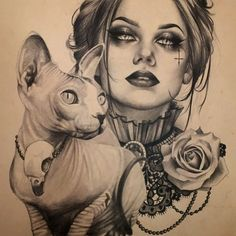 Made this together with my lovely friend Marsha for the ladies convention poster Chicano Tattoos, Chicano Art, Body Art Tattoos, Girl Tattoos, Tattoo Sketches, Tattoo Drawings, Drawing Sketches, Art Drawings, Geisha Tattoos