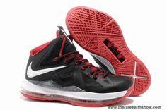 541100-002 Black White Red Style Nike Lebron X (10) Sale