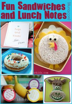 Make lunchtime fun with these cute sandwiches