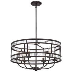 "Brimfield 22 1/2"" Wide Bronze Pendant Light - #5X616 