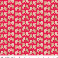 www.elephantinmyhandbag.com  Home for the Holidays #Deer  #Red #Fabric by #Riley #Blake