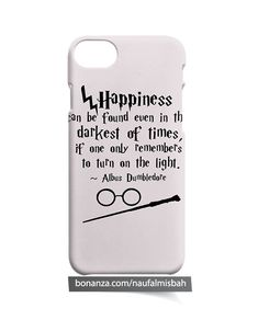 Harry Potter Happiness Quote iPhone 5 5s 5c 6 6s 7 8 + Plus X Case Cover