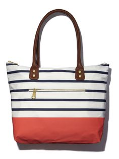 A striped nylon tote has a breezy weekend vibe that s perfect for a getaway  (or · Weekend Getaway OutfitsAccessorize HandbagsSpring BagsSummer ... b4e7cc9c20d4c
