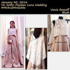 Guessed it right! @mainedcm wore Vania Romoff! I love VR's pieces esp her bridal collection! U should go check her out @shopvaniaromoff !  ms @vaniaromoff ! #MrAndMrsSotto #ALDUBBagsikNiMama  #ks #kalyeserye #maiden #aldub #maichard #yayadub #yayadubootd #mainemendoza #mainemendozaootd #aldenrichards #aldenrichardsootd #ootd #outfitoftheday  ##VaniaRomoff #