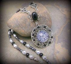Hecates Magick Wheel necklace .pagan  new by SpellboundOriginalz