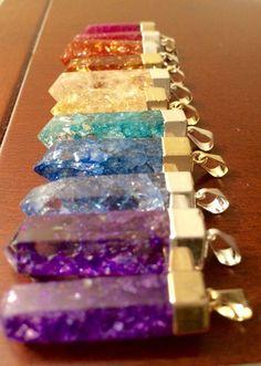 Crackle Quartz Crystal Pendant by ElijoGems on Etsy