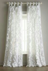 Long White Curtains.