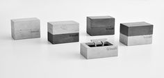 JEWELRY BOX package (made of concrete) by Tomas Vacek designed for Gravelli.com