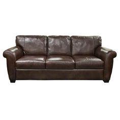 Nebraska Furniture Mart – Natuzzi Editions Brown Leather Sofa