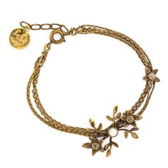JJ Caprices - Bronze Flowers and Vines Bracelet by Eric et Lydie