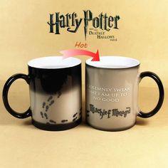 Harry Potter Mug Color Change Coffee Mug Mischief Managed Magic Ceramic Cup Gift