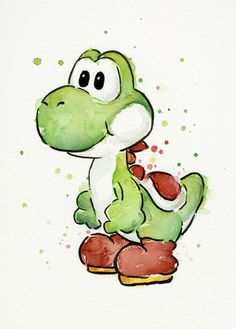 Super Mario WatercolorsBy Olga Shvartsur | Available as prints & more via Society6