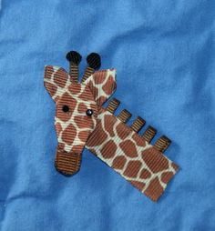 Giraffe Ribbon Sculpture Hair Clip by CelticTideCreations on Etsy, $4.75