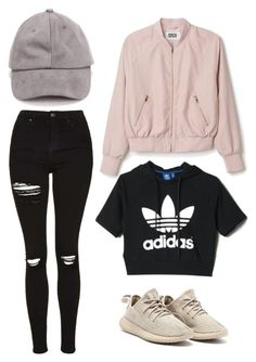 """Untitled #1"" by emmawaglandd ❤ liked on Polyvore featuring Topshop and adidas"