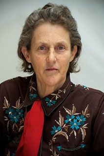 Temple Grandin (1947-) American professor, doctor of animal science and author, known for her work in autism advocacy and as the inventor of the 'squeeze machine'. Grandon was listed in the 2010 Time list among the 100 most influential people in the world.