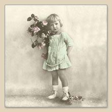 Serwetka do decoupage Girl With Flowers Vintage - sklep Decoupage Art.pl