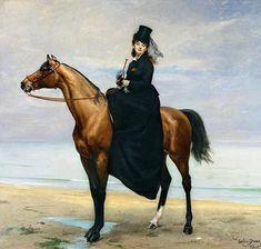 CAROLUS-DURAN, EQUESTRIAN PORTRAIT OF MADEMOISELLE CROIZETTE, 1873