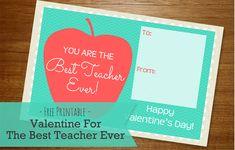 - Free Printable Best Teacher Ever Valentine For Your Child's Teacher -