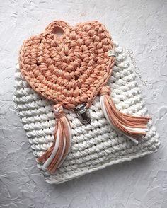 WEBSTA @ whitecat_crochet - If you want a bag like this please  direct or Viber/wa  375-29-341-42-11...........Плохо, когда болеют маленькие фунтики  А как вы проводите выходные?Вязаный рюкзак выполнен на заказ. Прекрасно держит форму. Собственный дизайн. Застегивается на портфельный замок. Широкая цветовая  Доставка почтой по всему миру ( не входит в стоимость).Хотите и вы? Тогда  в direct или Viber/wa  375-29-341-42-11#белорусскиедизайнеры  #belarus #сумка #вязанаясумка...