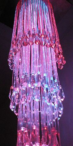 I did not get you a pink crystal chandelier. Fuchsia, Pink Purple, Hot Pink, Pink Love, Pretty In Pink, Pink Chandelier, Hanging Chandelier, Crystal Chandeliers, Pendant Chandelier