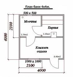 план бани 4х4