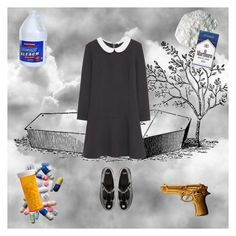 """""""Over My Dead Body"""" by celestialnymphette ❤ liked on Polyvore featuring ASOS, MANGO, ZENTS, dead, goth, funeral, nymphet and nymphetfashion"""