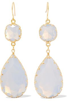 Shop on-sale Kenneth Jay Lane Gold-plated stone earrings. Browse other discount designer Jewelry & more on The Most Fashionable Fashion Outlet, THE OUTNET.COM