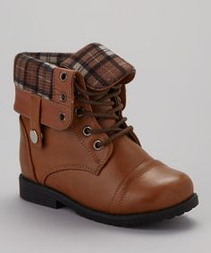 Look at this #zulilyfind! Ositos Shoes Tan Cuffed Damara Boot by Ositos Shoes #zulilyfinds
